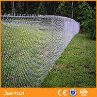 High quality hot sale galvanized pvc coated temporary construction chain link fence(ISO9001;MANUFACTURER)