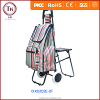 Outdoor foldable shopping trolley/High quality lightweight wheeled festival t