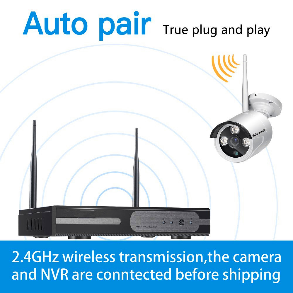 Manufacturer Price!!! Home security wireless cctv dvr ir camera system made in China