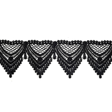 Good Selling big heavy lace black swiss voile lace for party