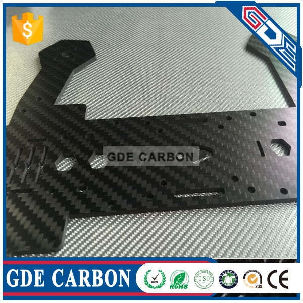 Customize carbon fiber drone cnc cutting parts