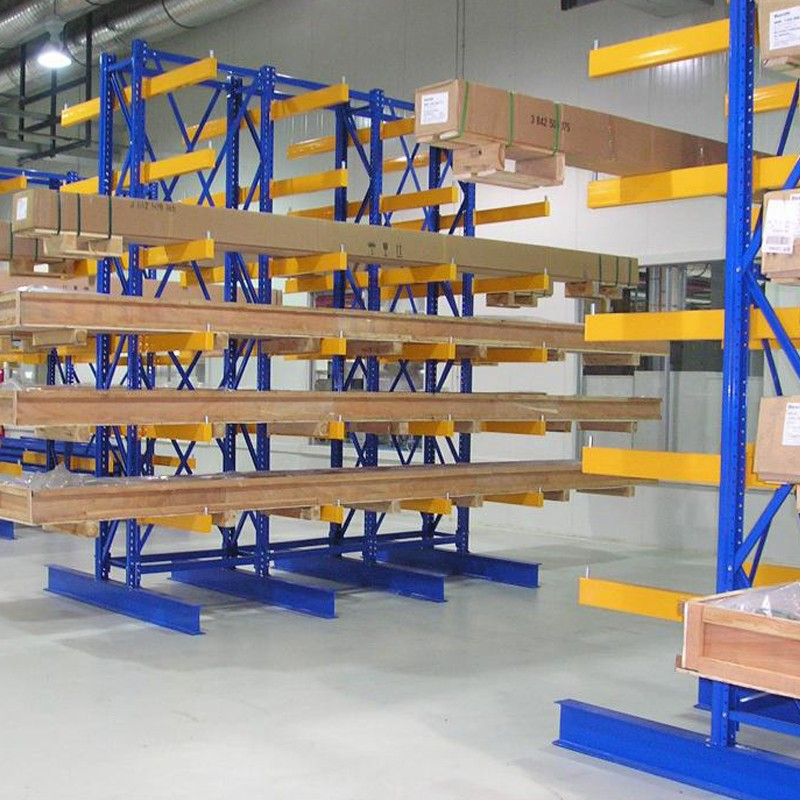 Steel Plate Storage Stacking Iron Cantilever Pallet Rack