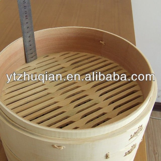 Wholesale High Quality Eco-friendly Chinese Cheap Bamboo Food Steamer