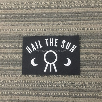 2017 custom high density damask clothing woven labels