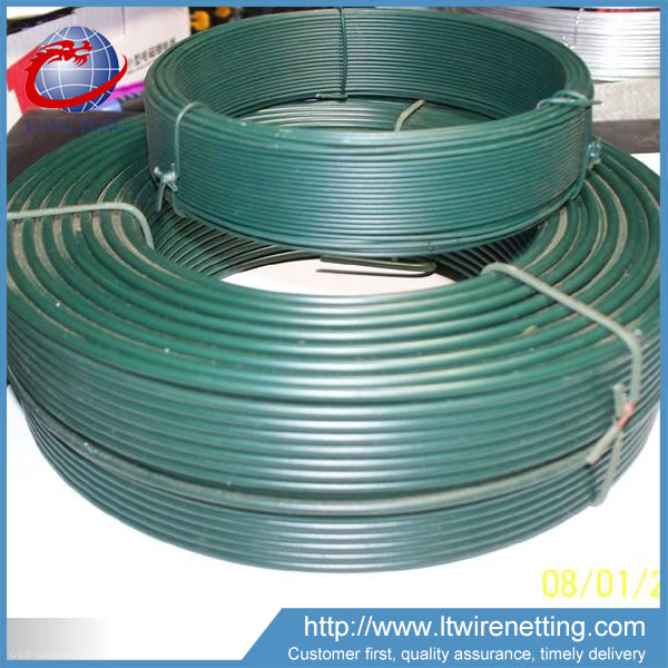 Anping factory high quality green pvc coated wire 3mm for wreath