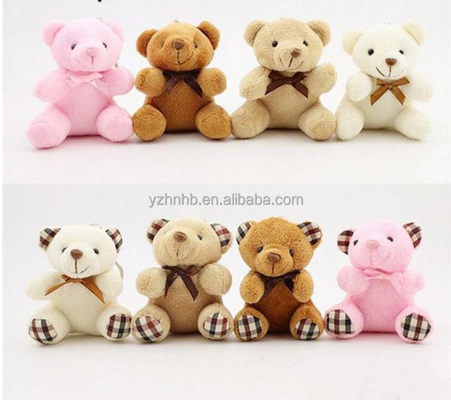 Free Sample 1PCS Hot 8CM Cute Small Teddy Bears Plush Toys Stuffed Animals Fluffy Bear Dolls Soft Kids Toys 8 Patterns
