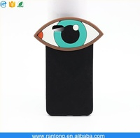 3D fashionable universal silicone cell phone case with workable price, can put animal