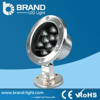 Stainless Steel IP68 submersible led lights 9W Underwater LED Light