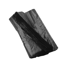 factory wholesale polyethylene black disposable roll plastic garbage bag
