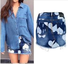 B32948A Latest Summer Fashion Sexy Women In Short Jeans Mini Skirt