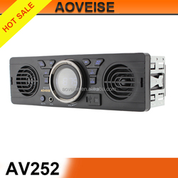 car audio/instructions car mp3 player fm transmitter with two speakers AV252[AOVEISE]