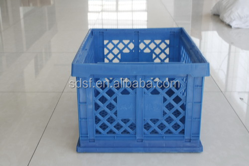 collapsible plastic container for storehouse