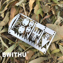 BWITHU Multi function outdoor credit card tool for survival