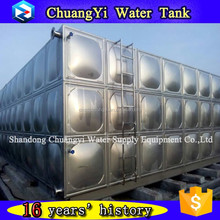 Mining plant water treatment use 30 cubic meter/30m3/5x3x2 ss316 panel water tank for sale
