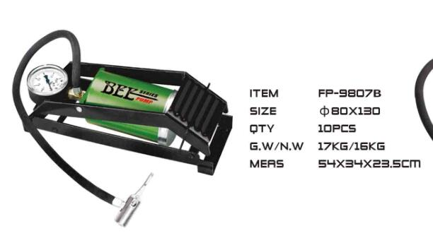 BEE High-Pressure hand pump for bicycle car with gauge