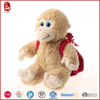 China custom plush animal with backpack toy keychain monkey