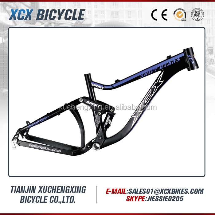 Best quality 6061 aluminum full suspension mountain bike frame for sale