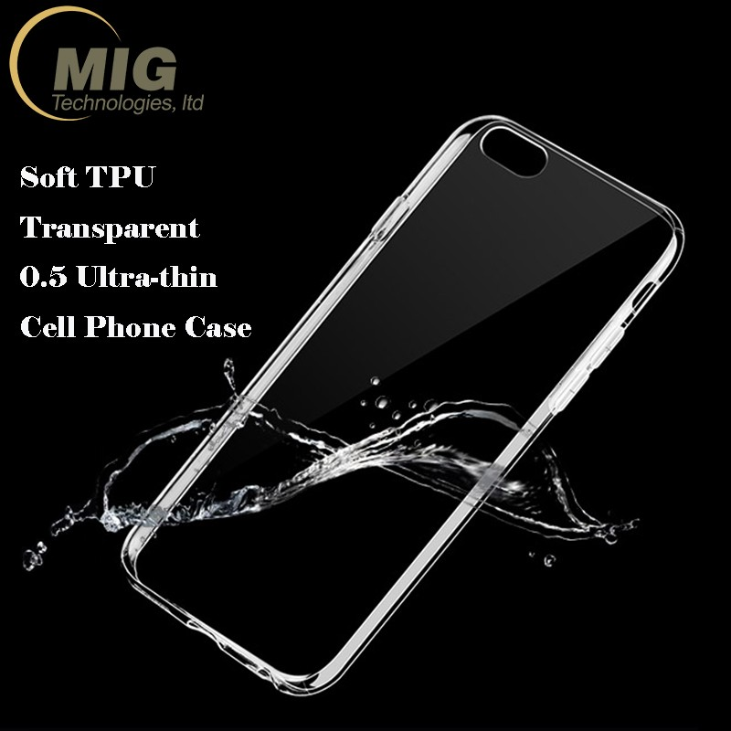 High quality cheaper price 0.5mm clear soft TPU cell phone case for Samsung Galaxy S7