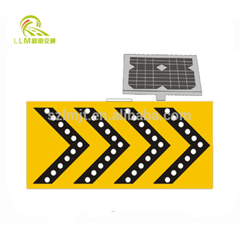 LED solar powered traffic safety flashing arrow sign