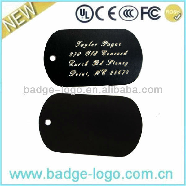 custom fashion polish military dog tag