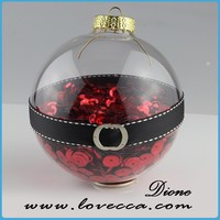 New wholesale fashion round christmas glass bell christmas ormament jewelry