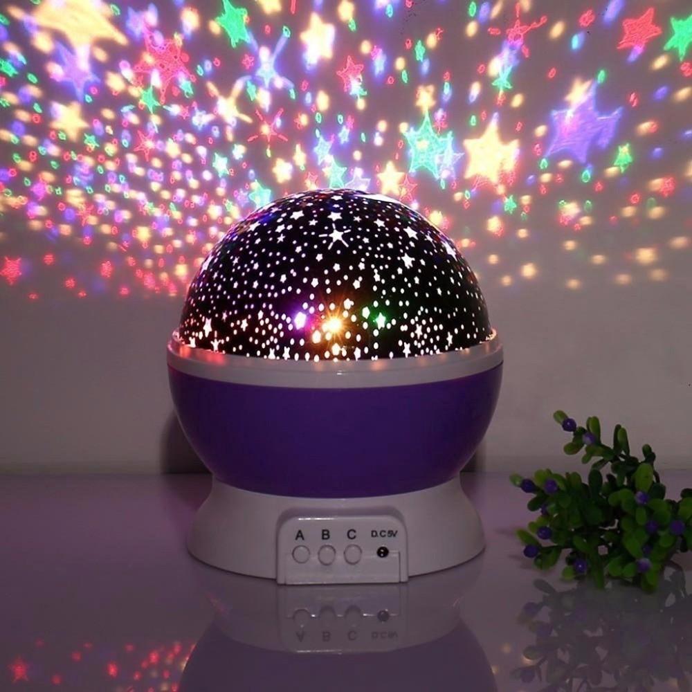 Night Light for Kids Baby Room Bedroom Sky Star Moon LED Projector Lamp Decor