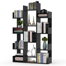 Tribesigns 13-<strong>Shelf</strong> Tree Bookshelf Modern Bookcase Book Rack Display Storage Organizer <strong>Shelves</strong> for CDs Records Books Home Office