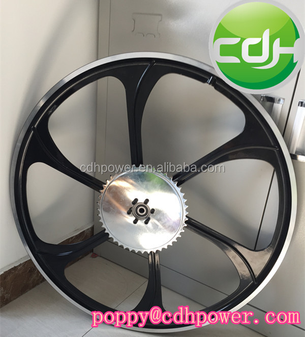 "26"" Gas Wheel for motorized bicycle, Bicycle Wheel with sprocket"