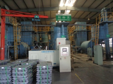 Lead powder manufacturing