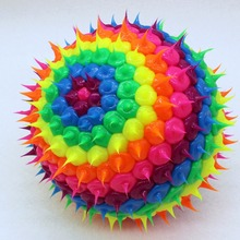 Promotion 10cm Bouncing Rubber Ball Silicone Cactus Stress Ball Kid Toy