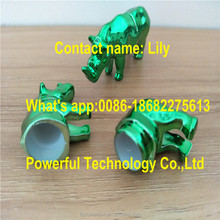 Mini Glossy Green Rhino Shape Toy Capsule Shell For Go Rhino 3D Blister Card Pckaging