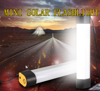 2016 hot mini portable magnetic solar camping torch light white color sunshine power night light Aluminum body