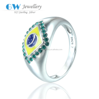 Globalwin New Fashion 2016 Brazil Rio Olympic Rings Jewelry With Rhinestone 925 Sterling Silver