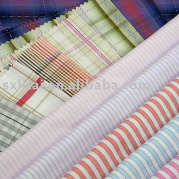 shirt fabric for 100% cotton yarn dyed shirt fabric