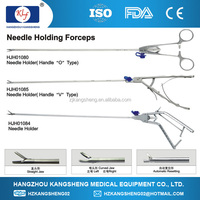 Reusable Surgical scissors laparoscopic Needle Holding Forceps curved head type-O