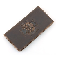 8115R Hot Selling 2016 Genuine Leather Skull Pattern Women Long Wallet