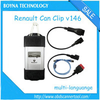 [High Quality] 2015 obd2 scanner tool renault clip can renault scanner renault tester can clip v146 support multi-languages