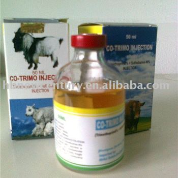 Sulfadiazine + TMP Injection composition 48%