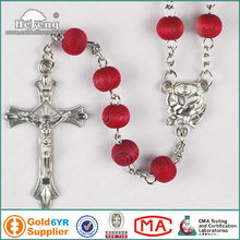 Wholesale alibaba perfumed red rose wood rosary