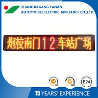 single color led programmable moving message screen for bus