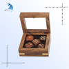 Wholesale bulk 6 sided game casino printed wooden custom dice with box