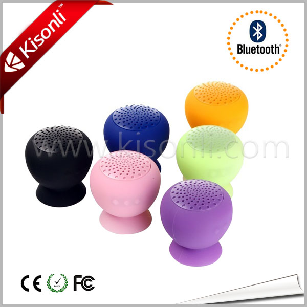 Portable Vibration Bluetooth 2.1 Speaker with Suction Cup