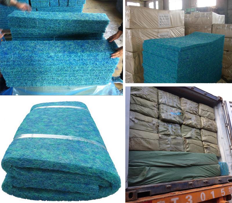 High quality japanese washable biological filter mats for for Koi pond japanese matting