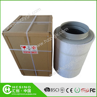 Round actived carbon air filter for grow room and hydroponic greenhouse