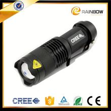 New product for 2016 best quality zoomable 7w led flashlight torch