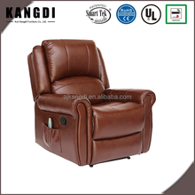 High Quality Armchair Brown One Seater Massage Leather Recliner Sofa