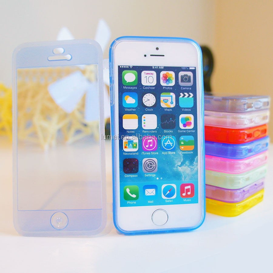 Flip Soft Gel Transparent TPU Case Cover For Apple iPhone 5 5S