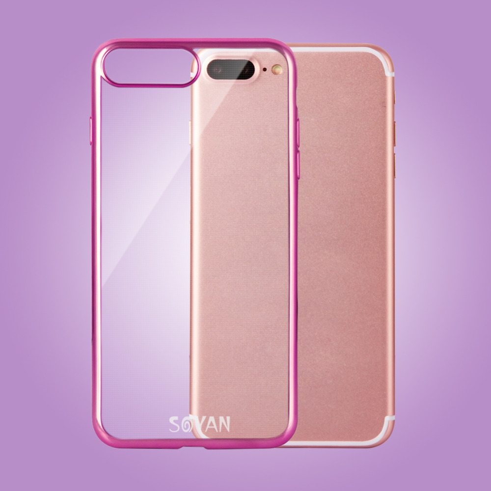 2016 newest and more popular Laser Cover Cell Phone Case Packing Double Camera Hole for IPhone 7+
