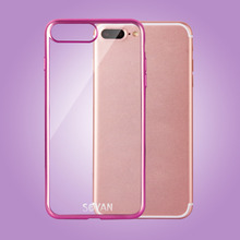 2017 newest and more popular Laser Cover Cell Phone Case Packing Double Camera Hole for IPhone 7+