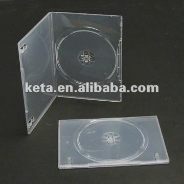 7mm Slim Single Disc Transparent Cover Plastic DVD Case